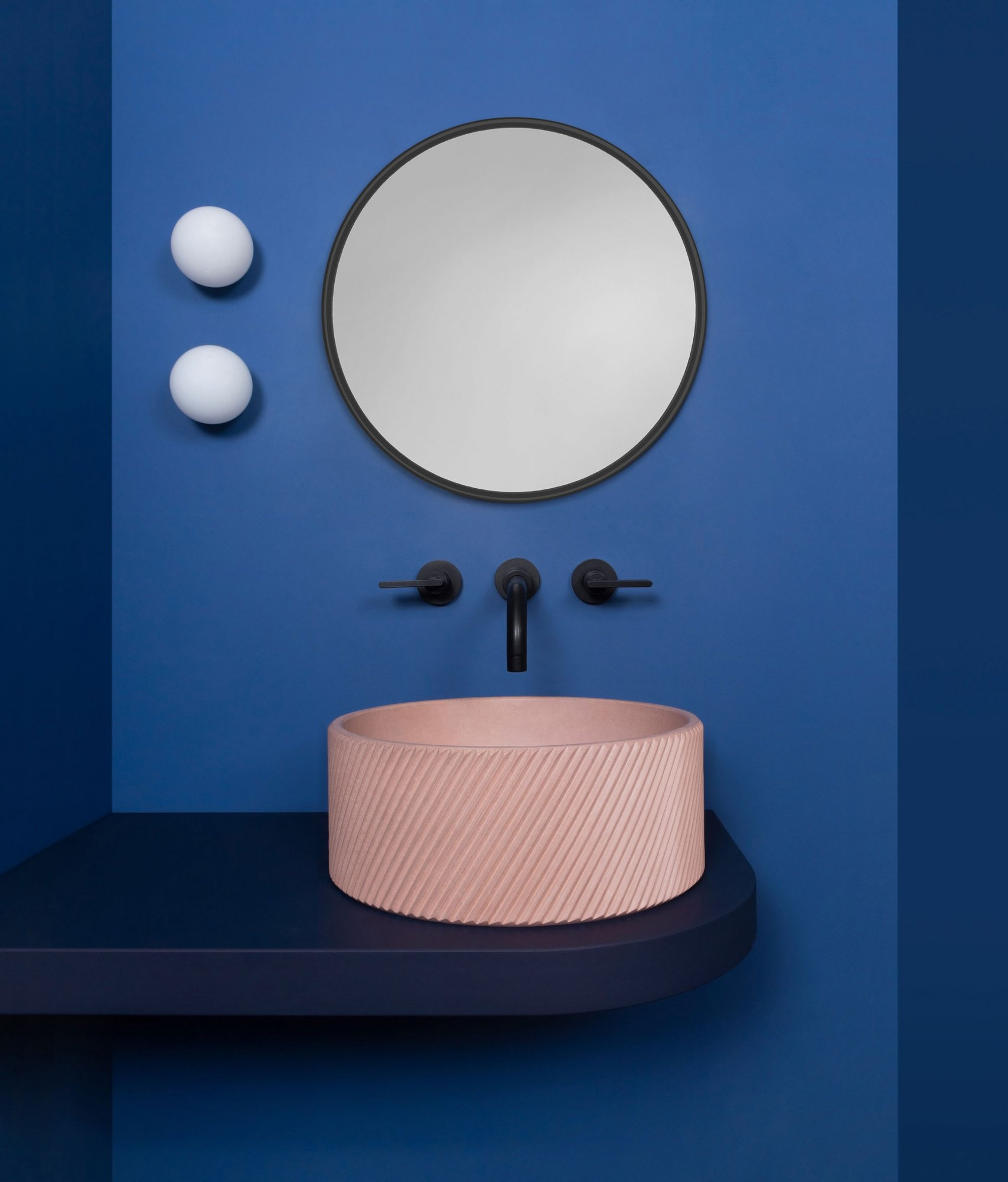West One Bathrooms Kast Concrete Basins – Otto – Blush