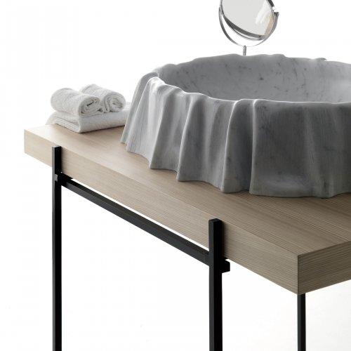 West One Bathrooms Kreoo NAMI Washbasin Bianco Carrara and HASHI Easel (9)
