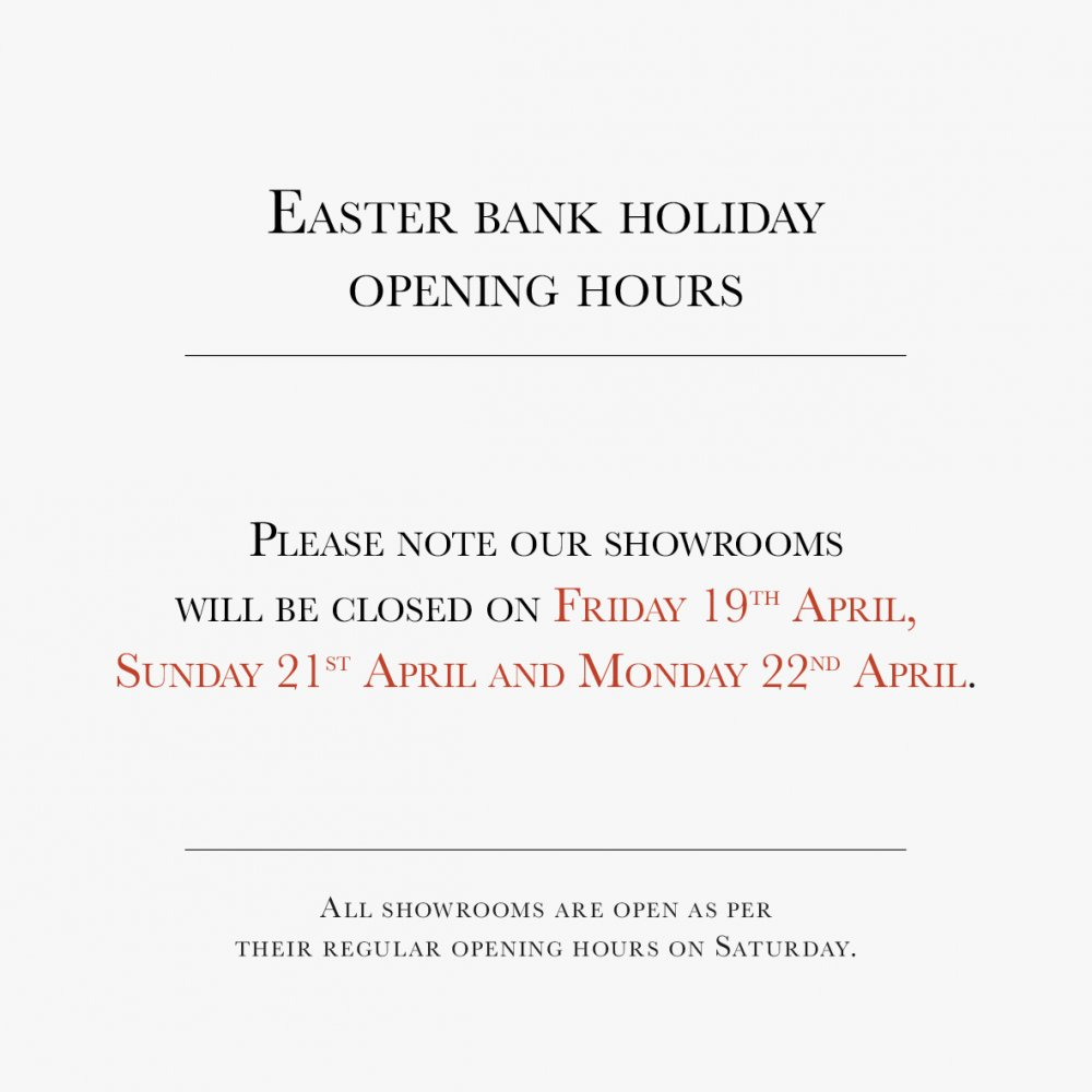 Easter bank holiday opening hours 2019   Website note amended 2
