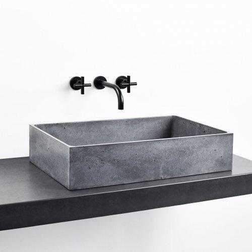 West One Bathrooms BOX basin gravelli print