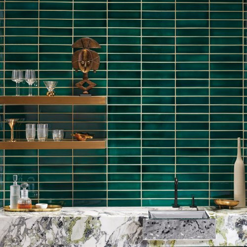 Westone bathrooms kohler crackle tile emerald
