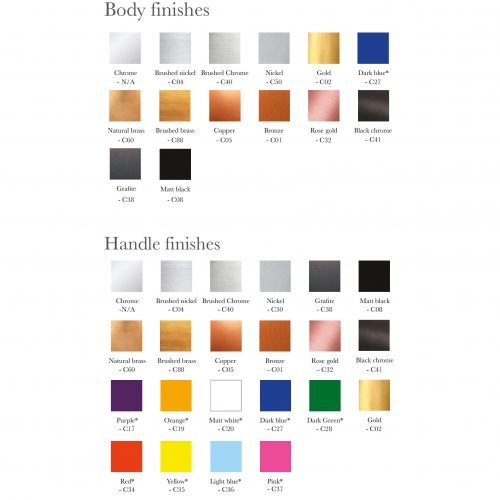 WOB 5th Avenue Colour options