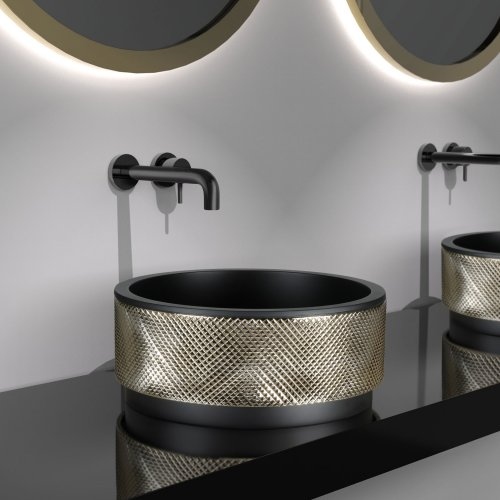 West One Bathrooms Royal washbasin Black Gold (black tap)