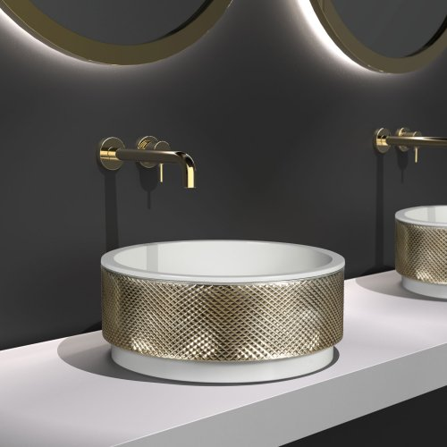West One Bathrooms Royal washbasin White Gold