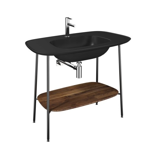 West One Bathrooms Plural Washbasin   Matt Black