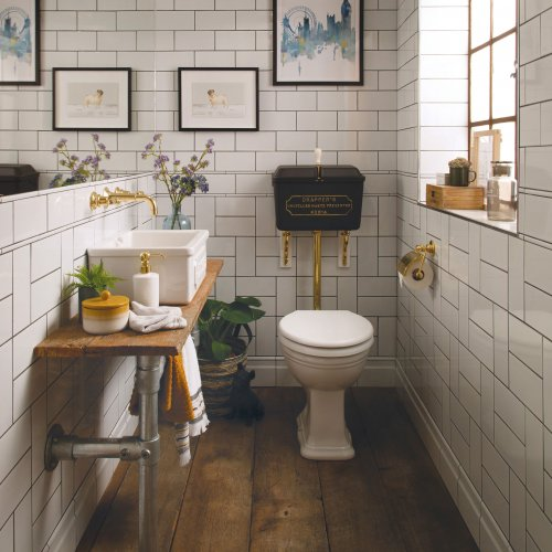 West One Bathrooms LL Cloakroom set – Downham basin 2