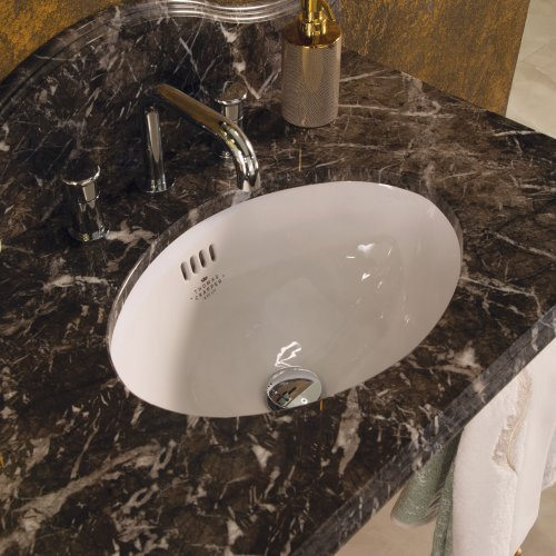West One Bathrooms Oval basin with Grigio Carnico Marble