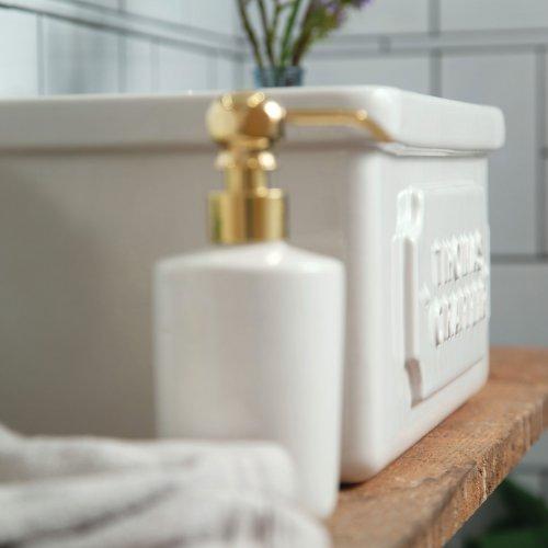 West One Bathrooms Soap dispenser & Downham basin