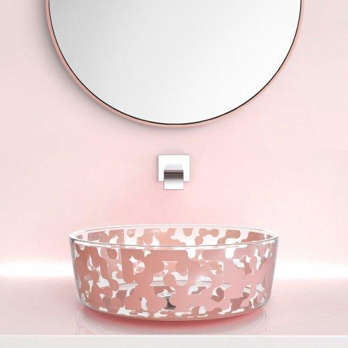 Glass Design MAREA Powder Pink colour1  Karim Rashid