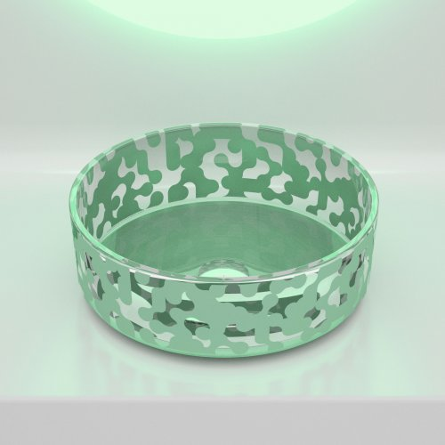 Glass Design MAREA Sage Green  Karim Rashid