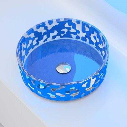 Glass Design MAREA Sly Blue colour1  Karim Rashid