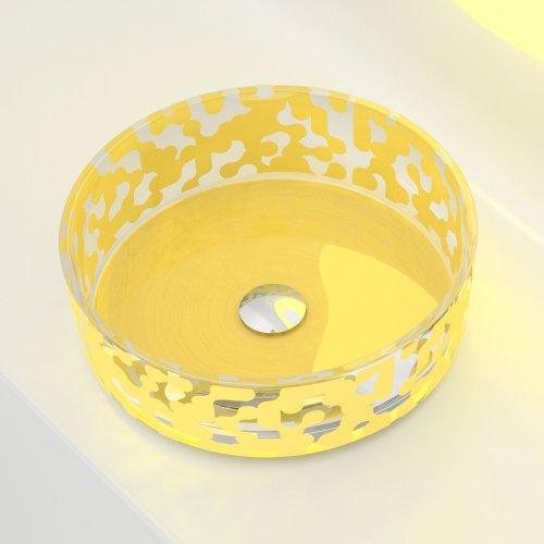 Glass Design MAREA Yellow colour  Karim Rashid