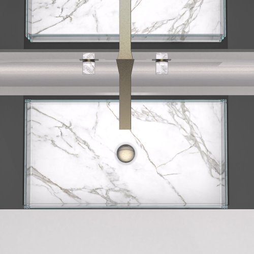 West One Bathrooms Skyline Marble White CL1 Dark platinum 1