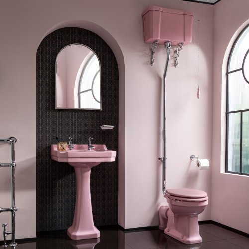 West One Bathrooms Pink High Level – Confetti Pink A1