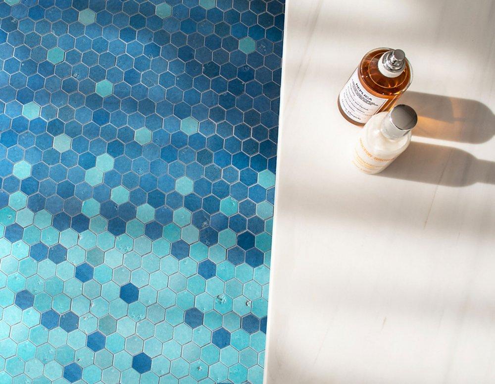 West One Bathrooms HuxleyBlueFloor