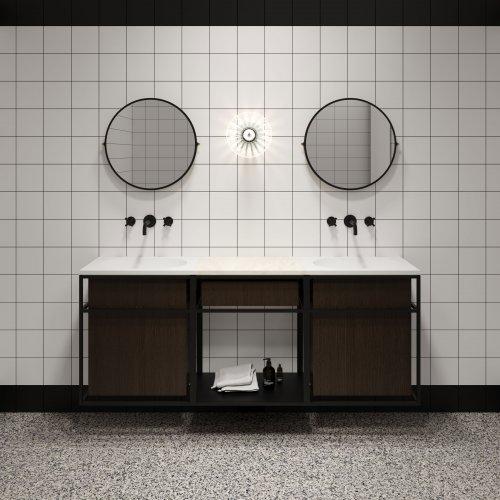 West One Bathrooms FRAME COMPOSITION + ROUND MIRROR NOUVEAU