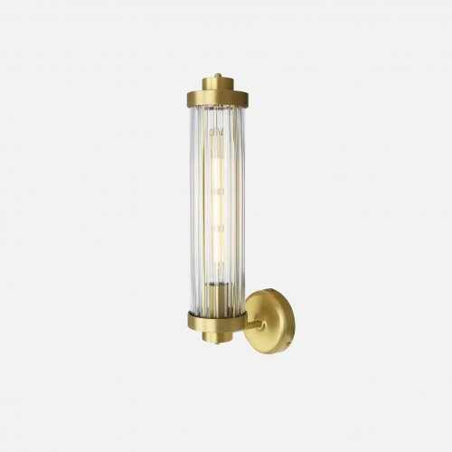 West One Bathrooms Louise Rippled Glass Wall Light 01